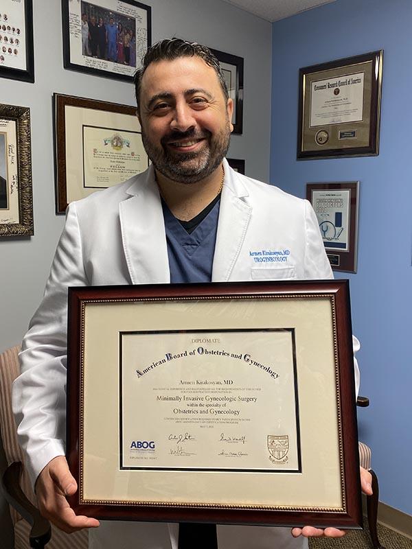 Dr. Armen Kirakosyan Receives Focused Practice Designation